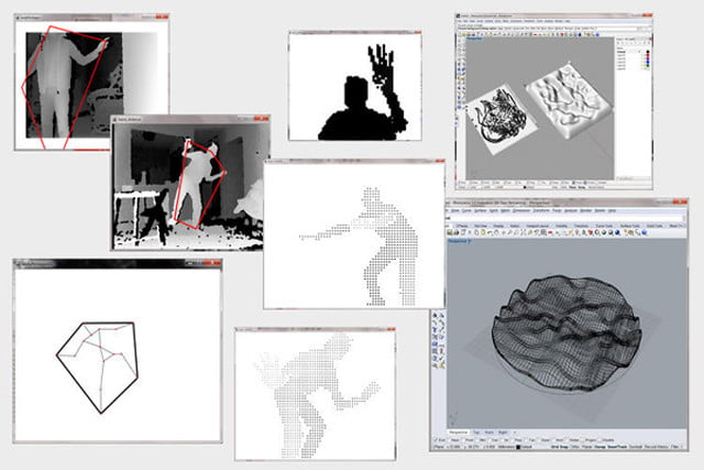 digital hand designs home furniture using kinect dh4