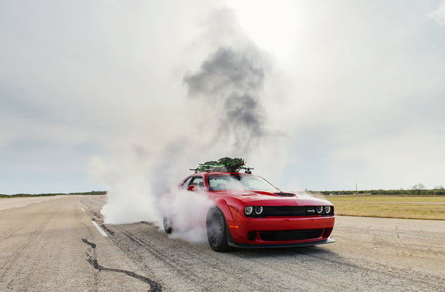 hennessey and dodge takes record for worlds fastest christmas tree 174mph 26