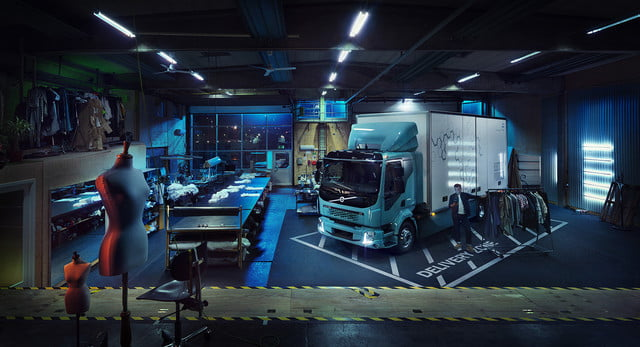 volvos introduces first ever all electric truck 2018  volvo trucks new fl 2