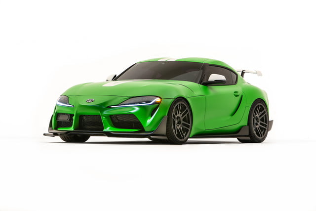 toyota displaying eight supra based builds at sema 2019 grsupra wasabi 03