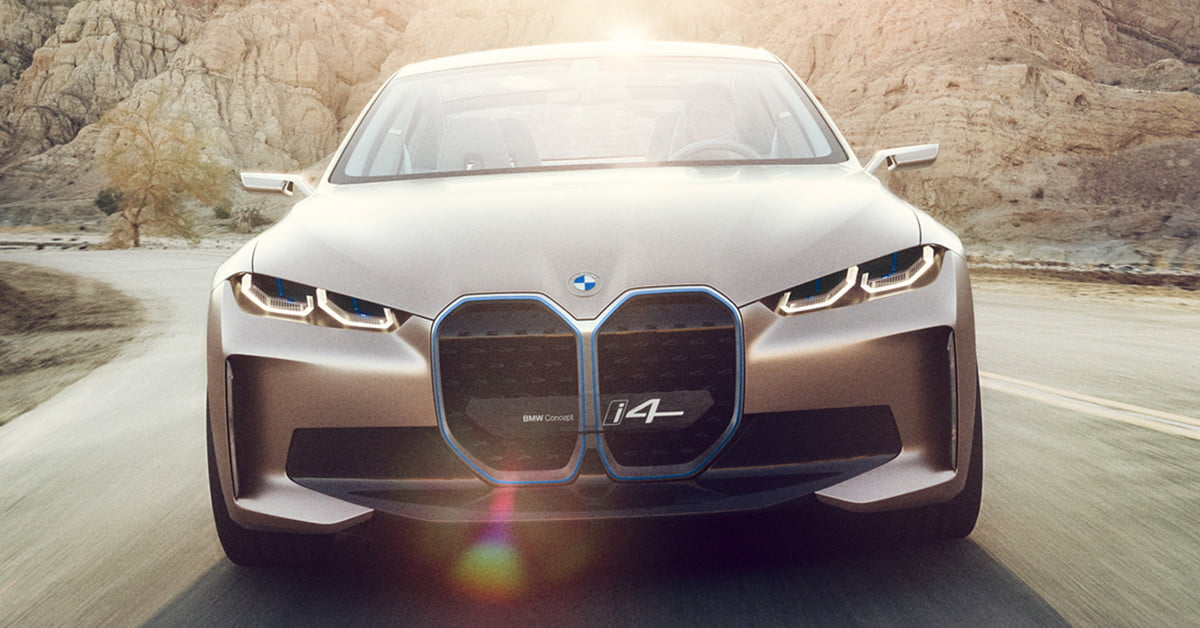 2020 bmw concept i4 previews 3 series-sized electric car