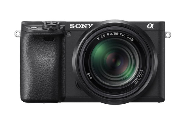 sony a6400 announced sel55210 front black