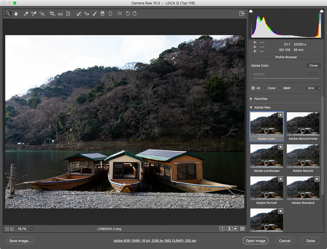 adobe lightroom acr camera profile overhaul