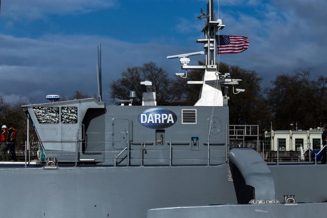 darpa officially christens the actuv in portland dry run starboard closeup