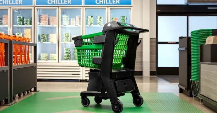 Amazon's new smart shopping cart lets you the skip cashier queues