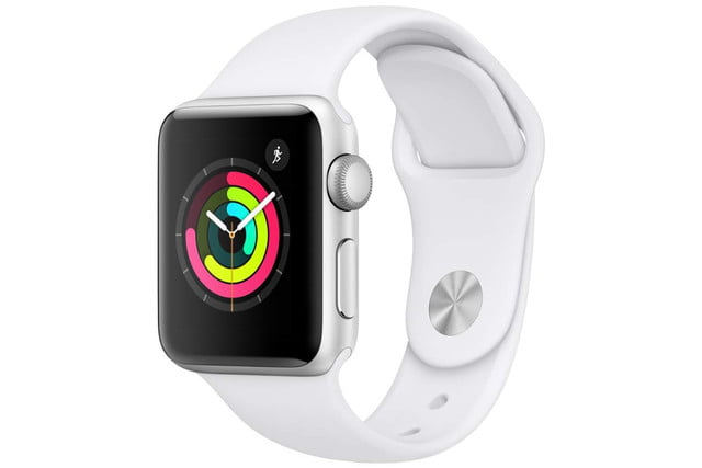 amazon 4th of july sale apple watch series 3  gps 38mm silver aluminium case with white sport band 1