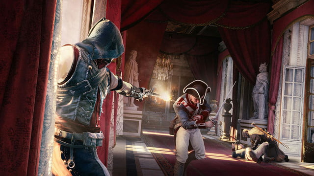 assassins creed unity reveals new weapons missions team opportunities hallwayassault