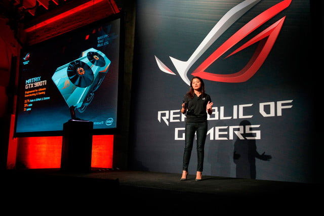 asus republic of gamers unleashed north america cmo vivian lien reveals the newest high performance matrix gtx 98