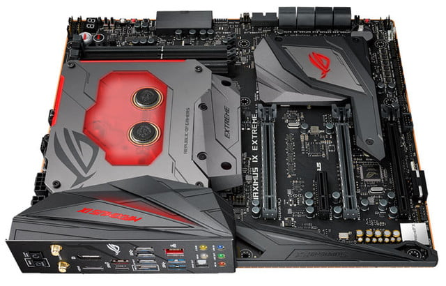 asus introduces rog maximus ix extreme z270 motherboard maximum top view
