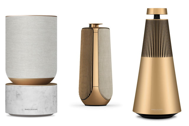 bang and olufsen 95 anniversary golden collection interview gold speakers