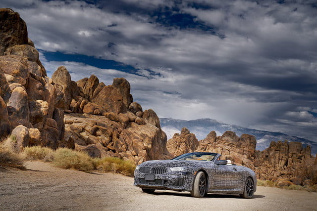 bmws tests its latest 8 series convertibles prototype in death valley bmw convertible testing  7