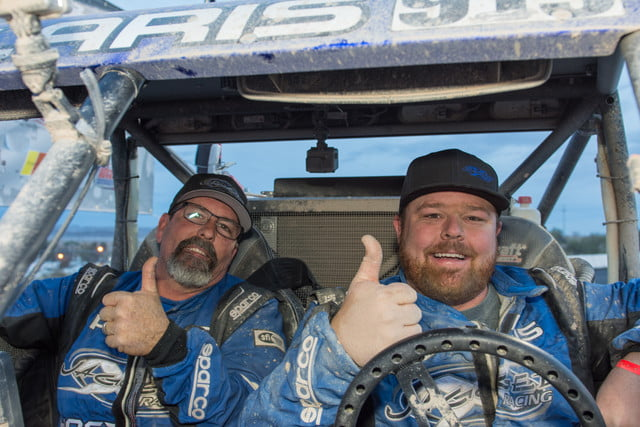 Polaris RZR Racing team member Brandon Schueler from Jagged X Racing wins the Parker 250