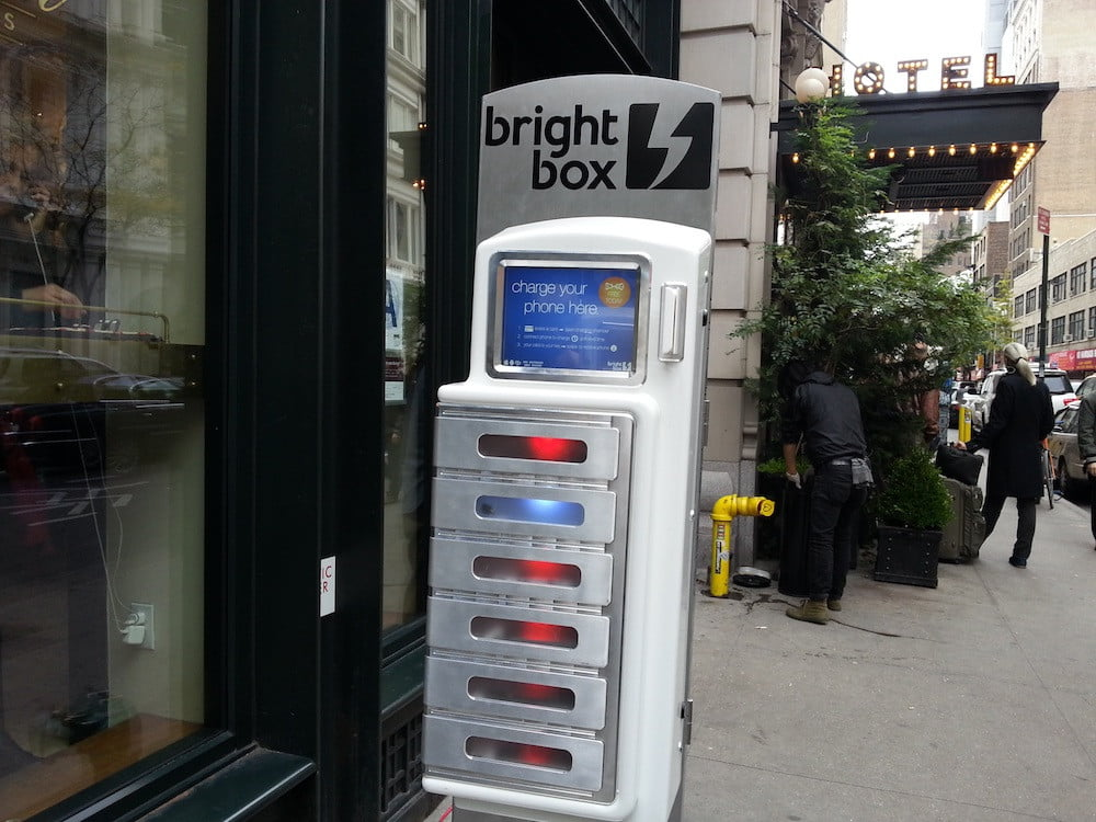 Phone charging stations pop up around NYC in aftermath of