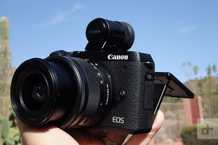 Canon EOS M6 Mark II with EVF-DC2
