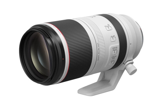 Canon RF 100-500mm f/4.5-7.1 on white background