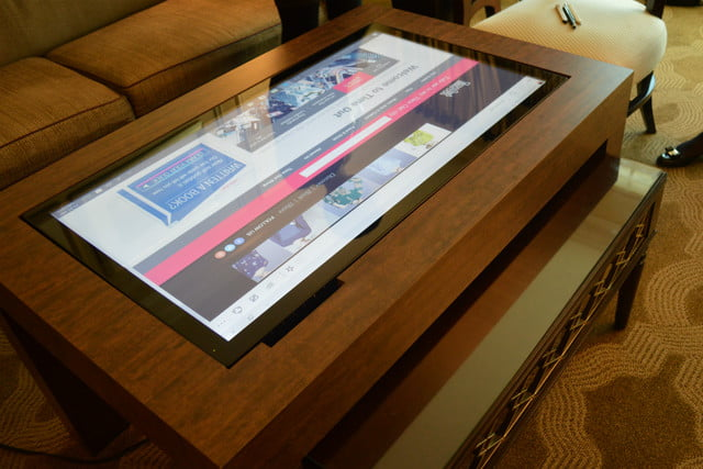 cima wants to put 40 inch touchscreens in coffee tables table time out