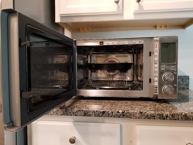 breville combi wave 3 in 1 smart oven with crisper pan high position