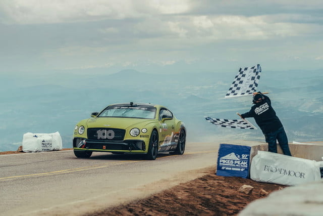 bentley continental gt pikes peak international hill climb 2019 breaks production car record