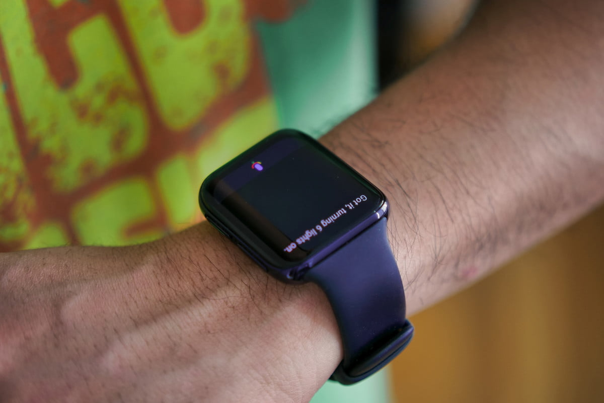 Controlling smart home with Oppo Watch