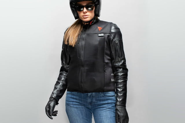 dainese smart jacket garment airbag breaks new ground so you wont get broken dair worn atop leather