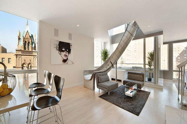 houses with amazing indoor slides east village penthouse