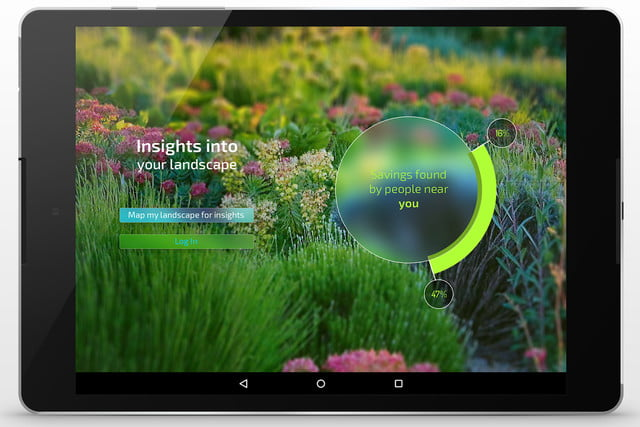 etwaters unity app shows you if are overwatering your lawn et tablet water 5