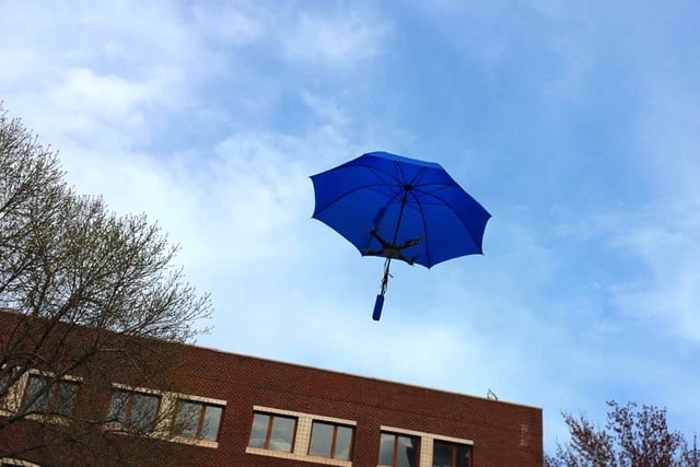 umbrella drones first prototype  most of the parts are 3d printed