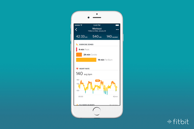 fitbit smarttrack purepulse update  exercise detail charge hr