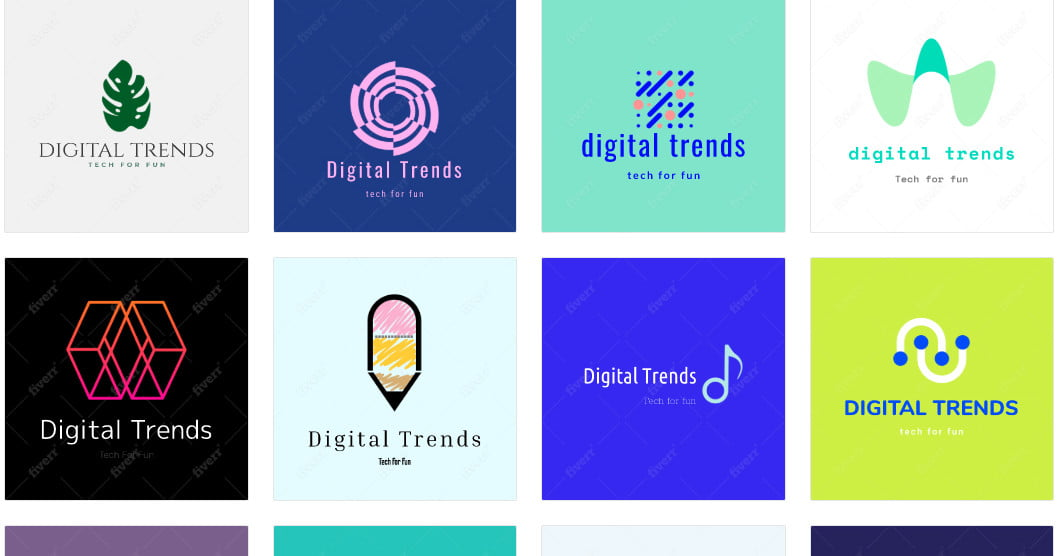 We Used Fiverr's A.I. Design Tool to Come Up with a New Logo   Digital Trends