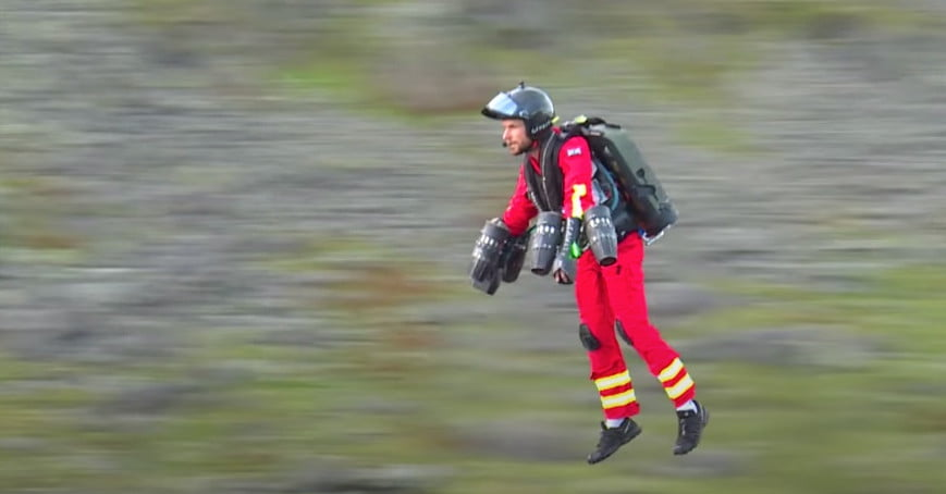 Watch this pilot test a jetpack for a 'flying paramedic' service