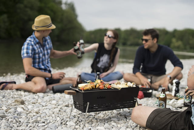 knister grill handlebar bbq friends with