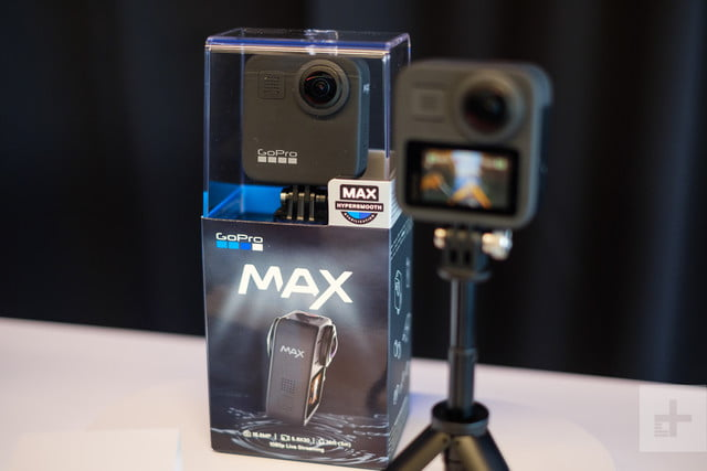 GoPro Max retail box on table