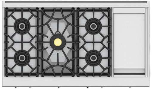 hestan commercial cooking suites home chefs 48 inch 5 burner rangetop with 12 griddle  krt series