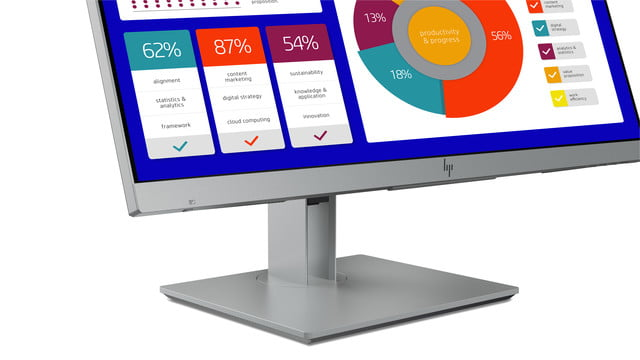 hp launches new monitors and all in one ces 2019 elitedisplay e243p sure view monitor button