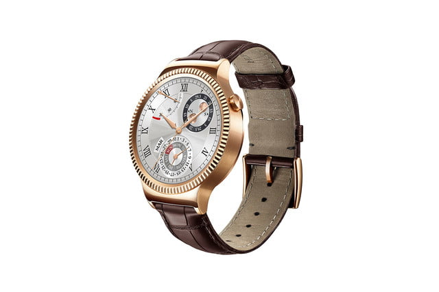 huawei watch news gold leather left side