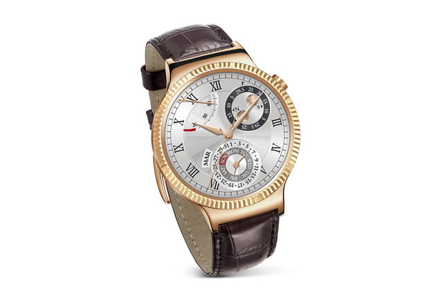 huawei watch news gold leather tilt
