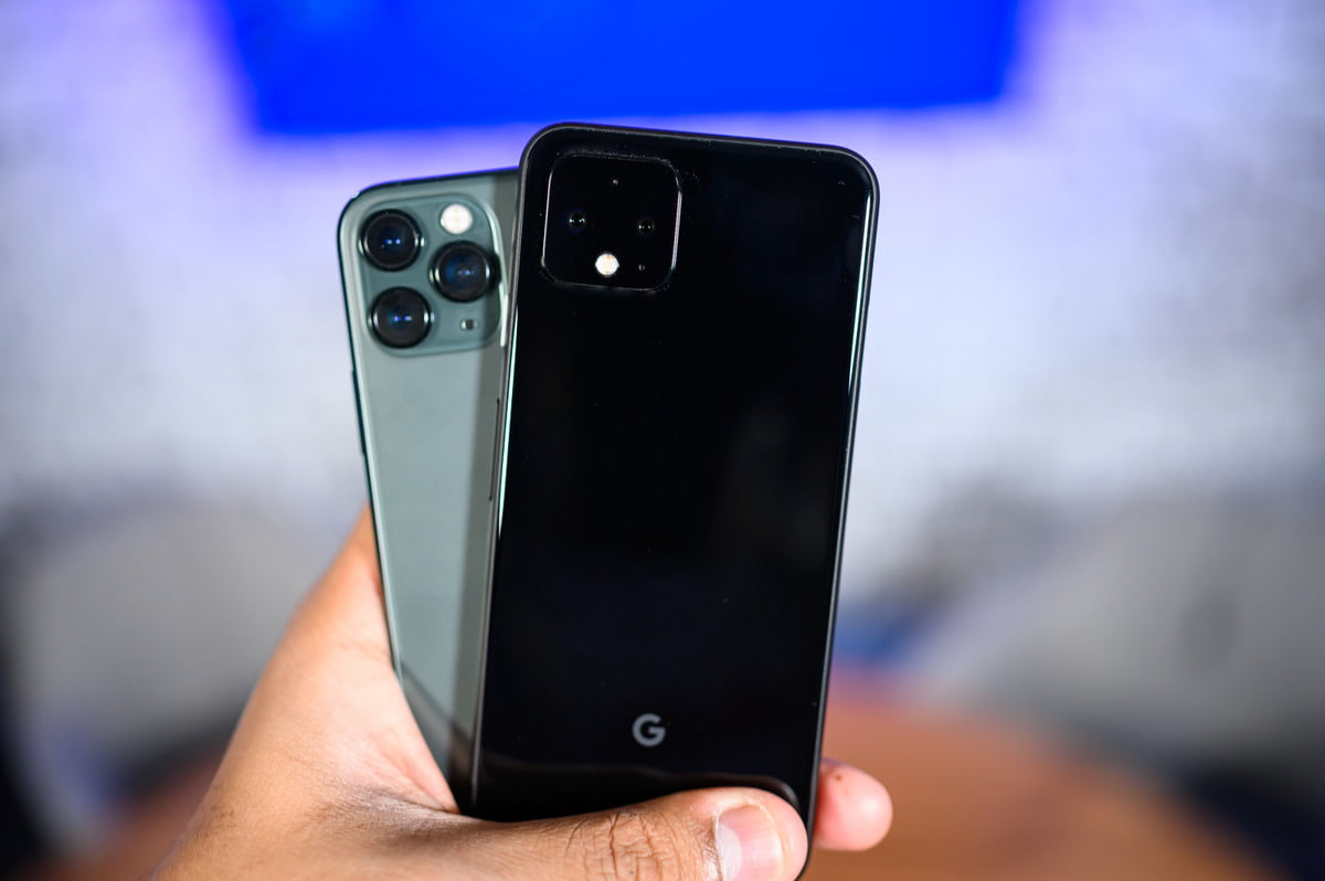 iPhone 11 Pro and Pixel 4 rear