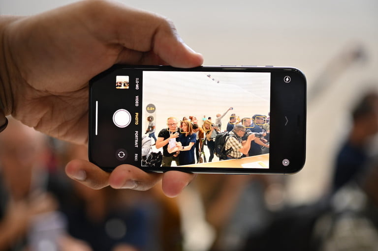 Ultra-wide-angle lens on the iPhone 11 Pro