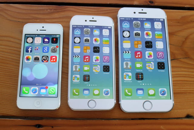 iPhone 5, iPhone 6, and iPhone 6 Plus