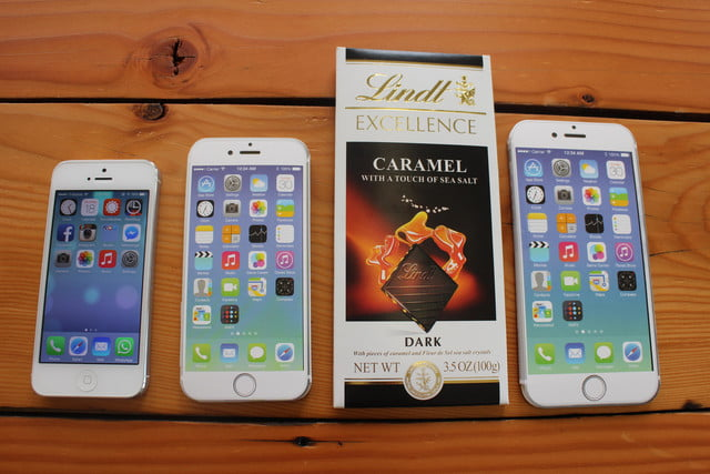iphone 6 plus size comparison chocolate
