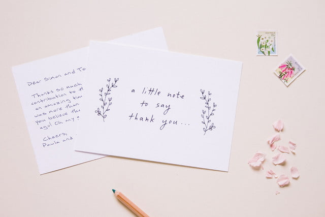 envelope uses robots to write thank you notes for your wedding landscape tyc littlethankyou