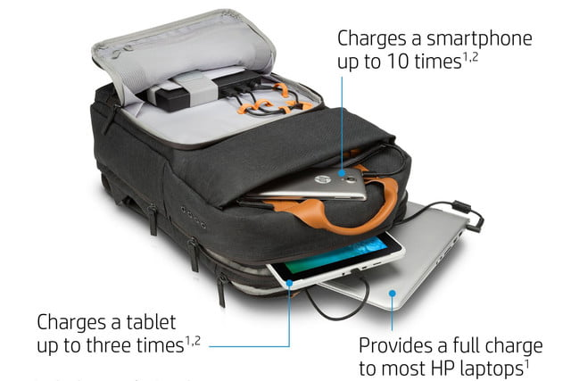 hp powerup backpack battery charge laptop phone tablet 3
