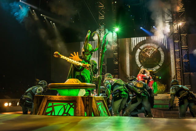 marvel universe live circus age of heroes on stage 11