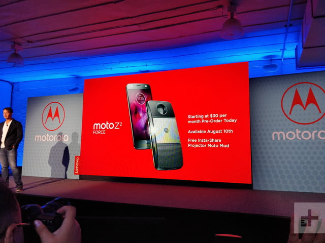 Moto Z2 Force red