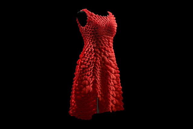 3d printed dress petal kinematics nervous system kinematic petals 0014