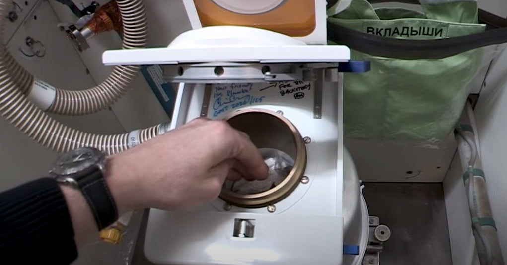 Watch a NASA astronaut show off the space station's new toilet