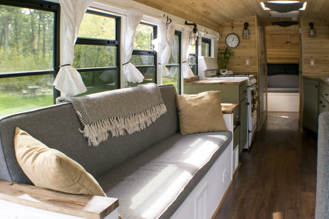 bus converted to solar powered tiny home on wheels nn 0108