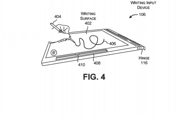 microsoft surface book 3 inking space patent in keyboard