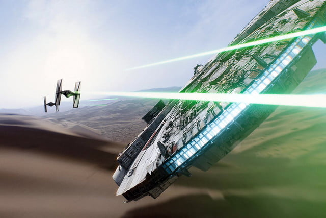 star wars the force awakens vfx oscars  industrial light magic millennium falcon chase breakdowns