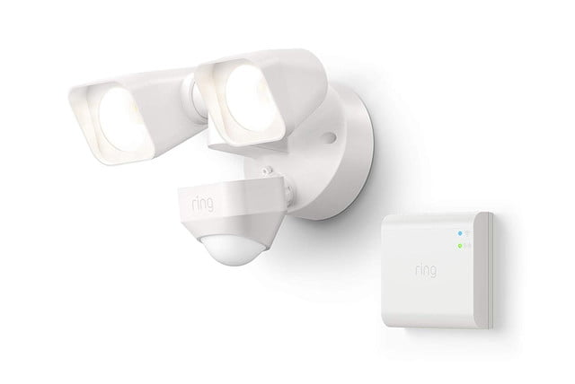 amazon drops pre prime day prices on ring smart lighting floodlights  floodlight wired white 1